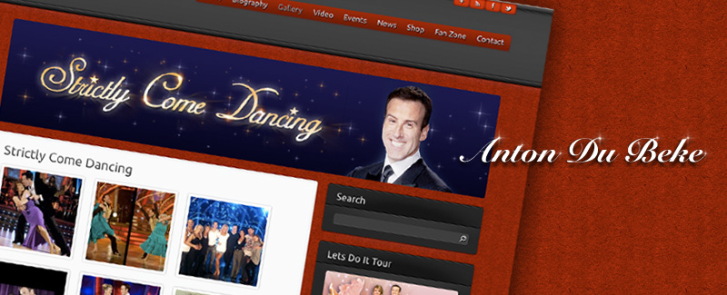 Web Design for Anton Du Beke