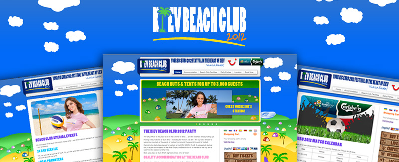 Web Design for Kiev Beach Club