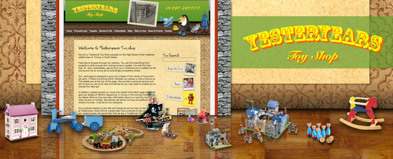 Web Design for Yesteryears Toyshop