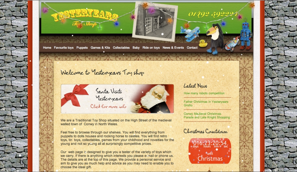 yesteryears christmas web design