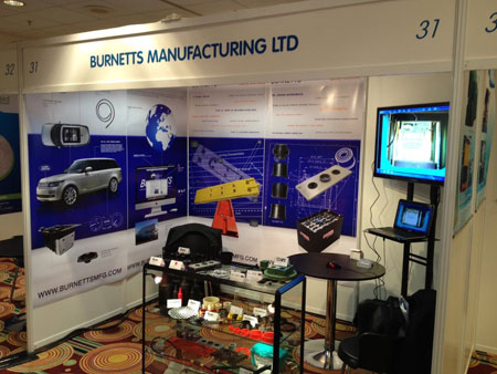 burnetts mfg exhibition design stand.